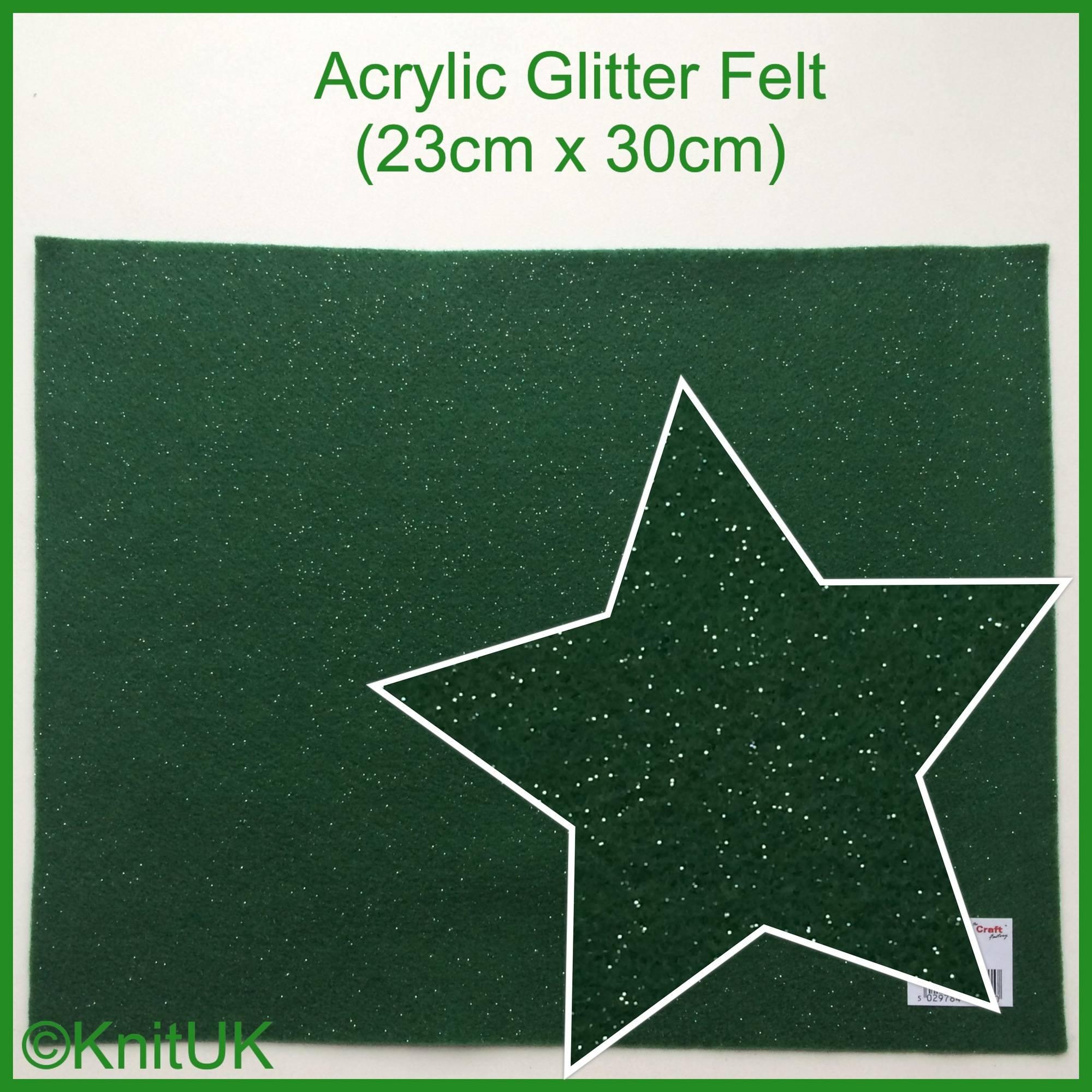 acrylic glitter felt holly