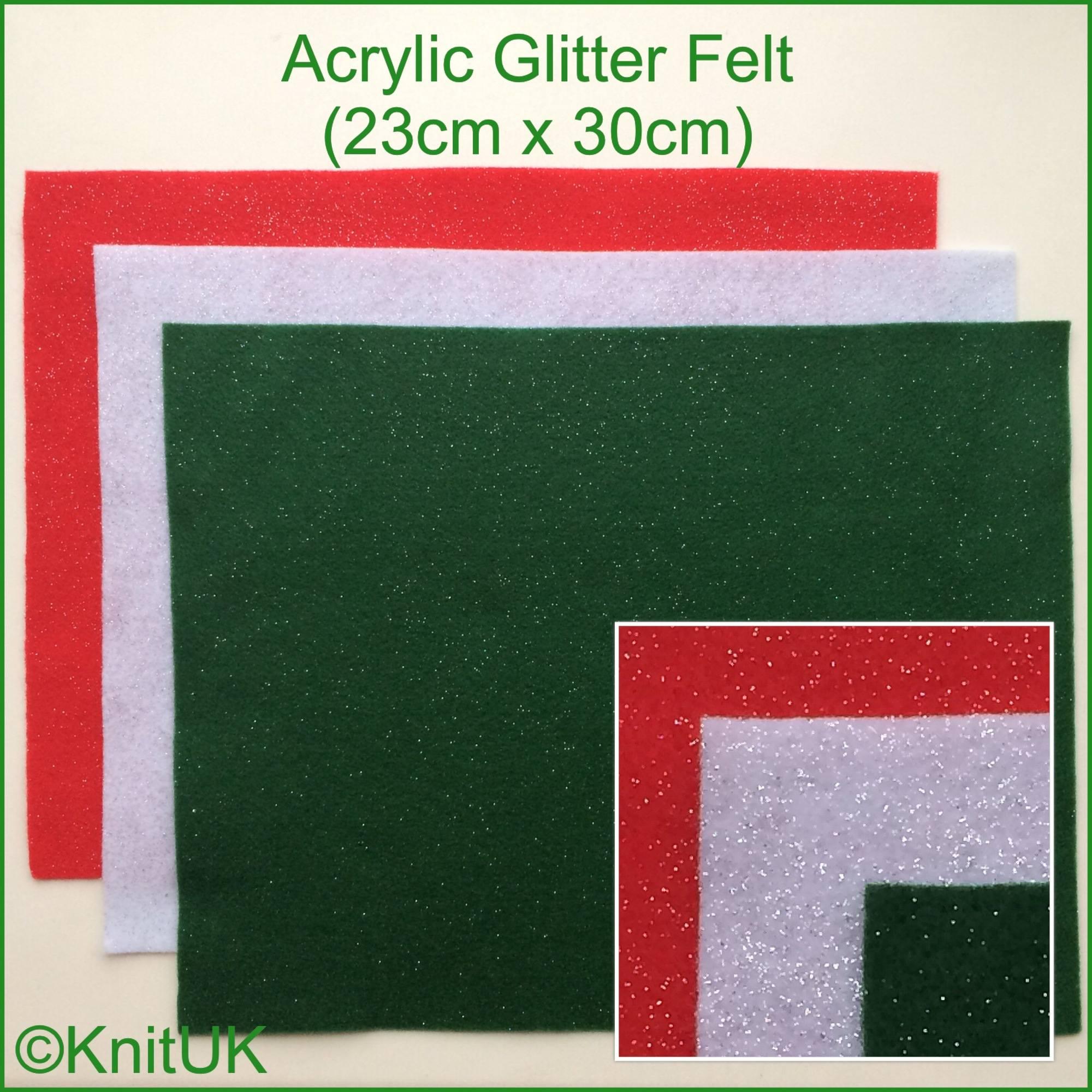 acrylic glitter felt xmas colours