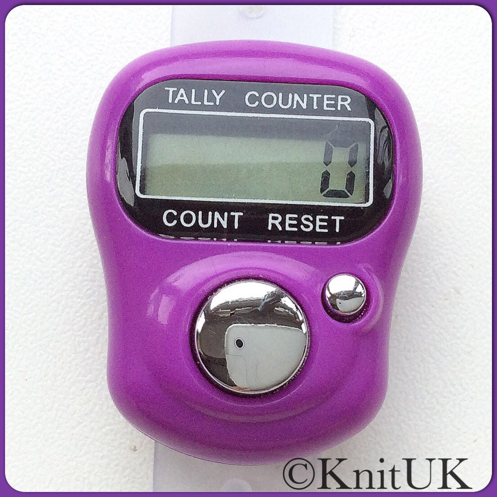 Lcd Tally Counter Finger Held Knitting Row Counter Knituk