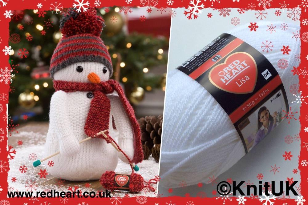 red heart lisa snowman knitting