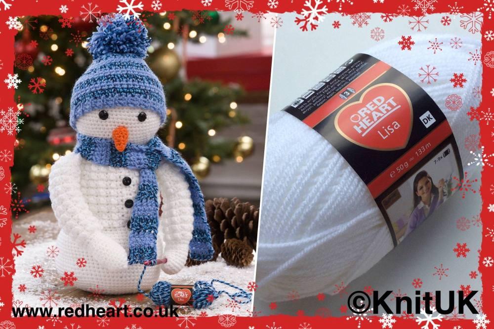 red heart lisa snowman crochet