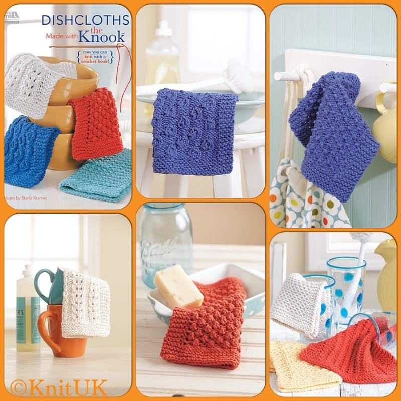 LA dishcloths knook book projects