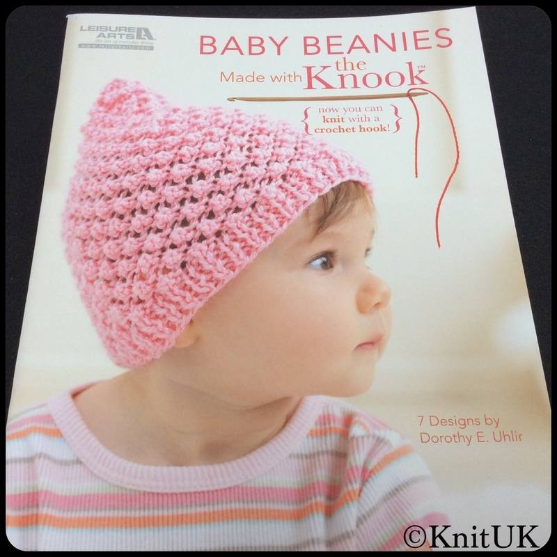 LA baby beanies made with knook