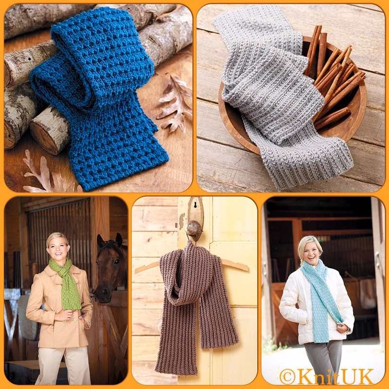 LA scarves with knook projects1
