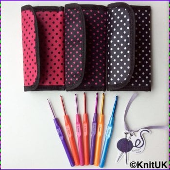 Crochet Hook Set of 7. FREE crochet hook bag.