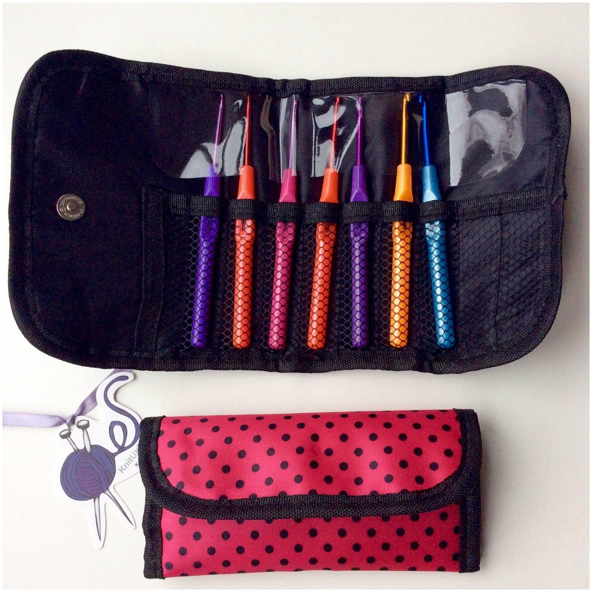 knituk crochet hooks set bag opened