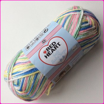 Red Heart Soft Baby Steps (Prints) 100g Aran. Knitting - crochet - Loom Knitting