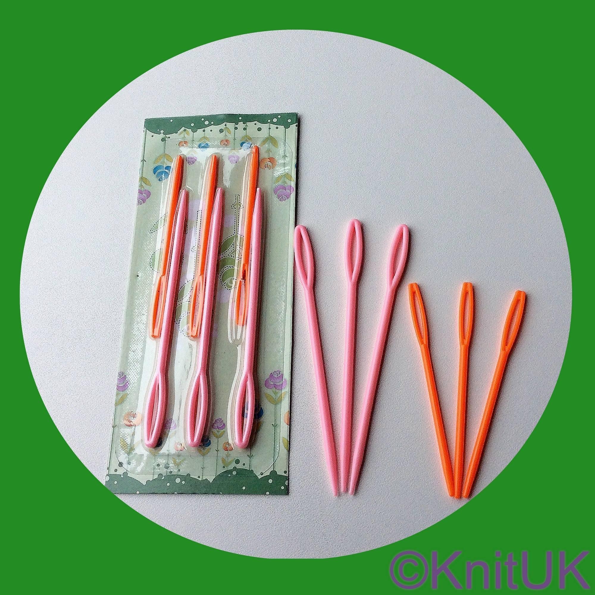 knituk wool and yarn plastic needle pack of 6