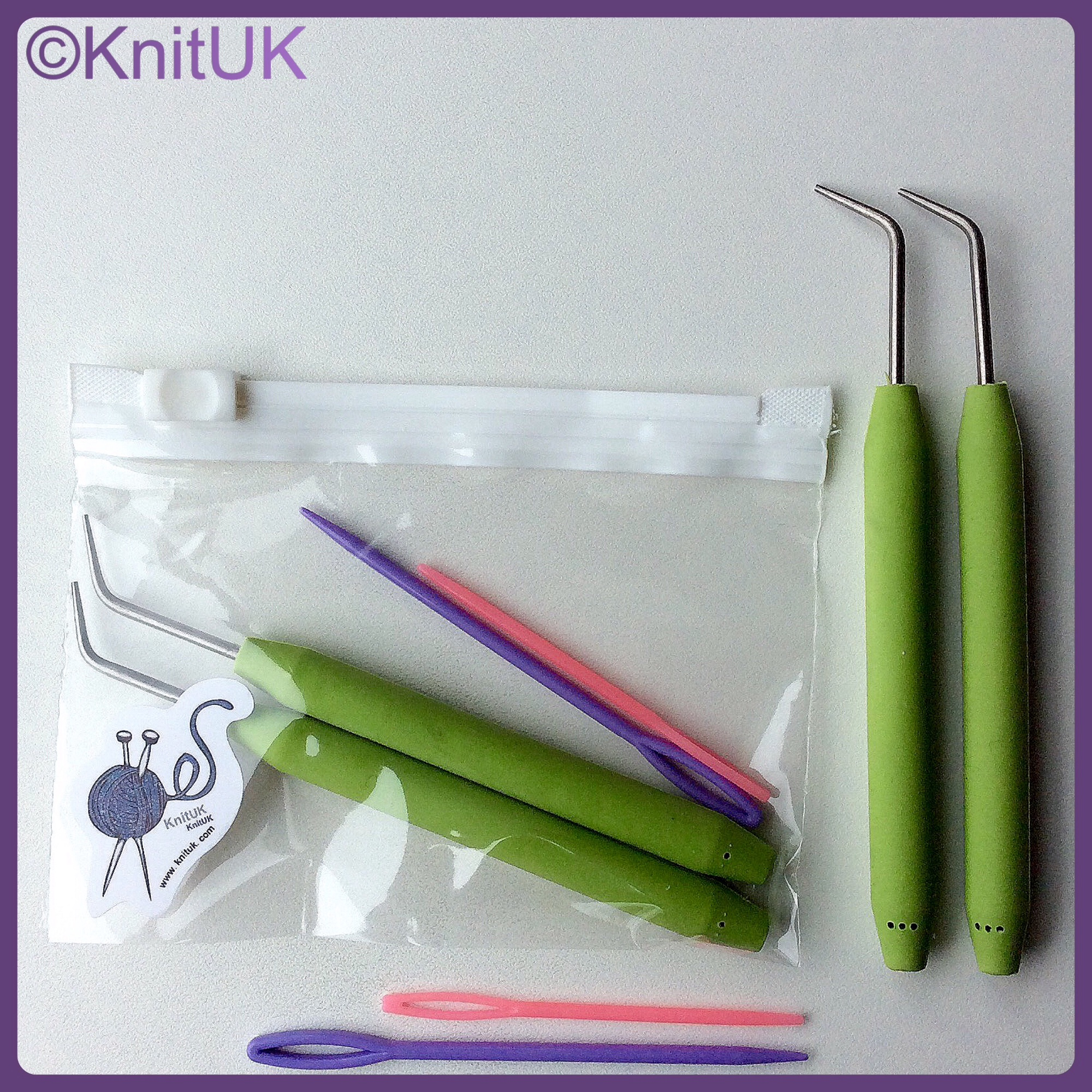 knituk soft grip hooks in and out bag