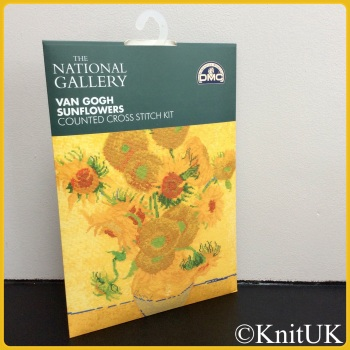 The National Gallery. Van Gogh - Sunflowers. Counted Cross Stitch Kit. DMC