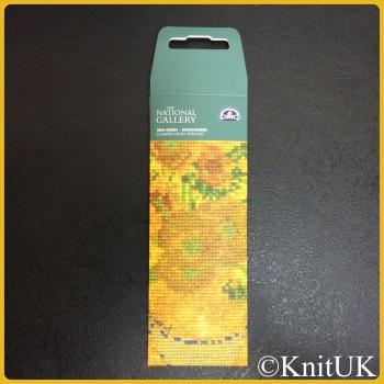 The National Gallery. Van Gogh - Sunflowers. BOOKMARK Cross Stitch Kit. DMC