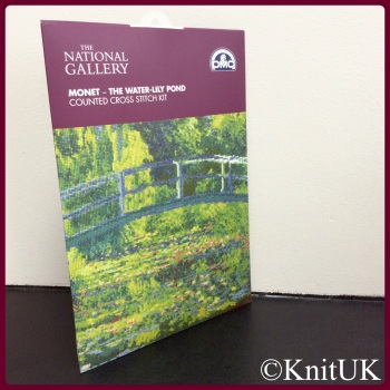 The National Gallery. Monet - The Water-Lily Pond. Counted Cross Stitch Kit. DMC