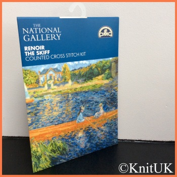 The National Gallery. Renoir - The Skiff. Counted Cross Stitch Kit. DMC