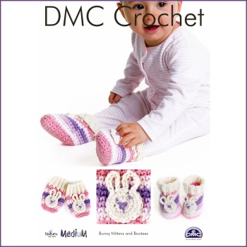 DMC Crochet - Bunny Mittens and Booties. Leaflet (Natura Medium yarn)