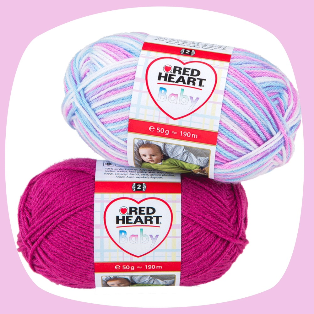 Red Heart Baby (50g). Acrylic yarn for knitting and crochet.