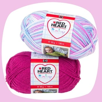 Red Heart Baby / Baby Color / Prints (50g). Acrylic yarn for knitting and crochet.