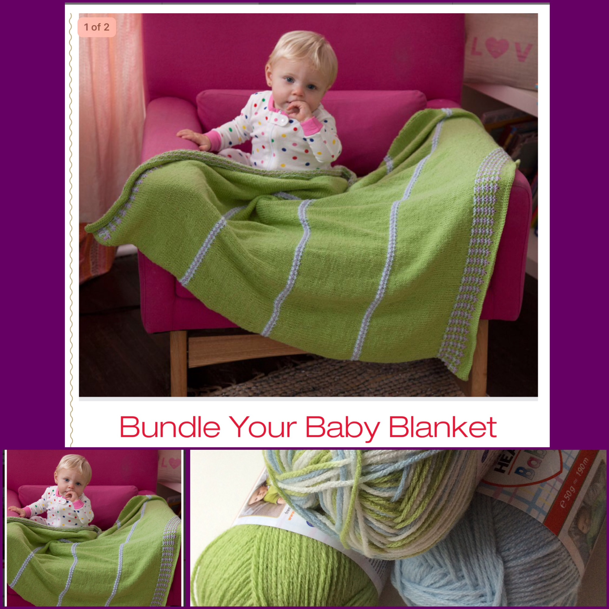 Red Heart Baby free Pattern baby blanket