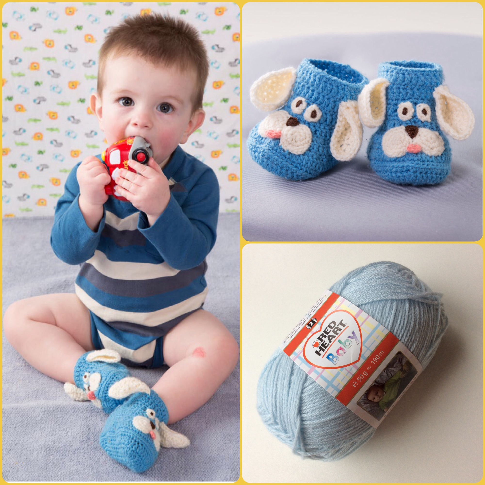 Red Heart Baby free pattern puppy booties