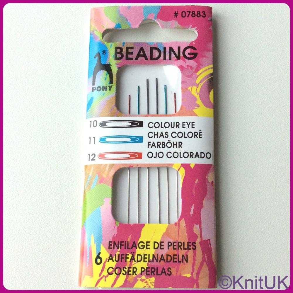 Colour-coded Eye Needles - Beading 10 / 11 / 12