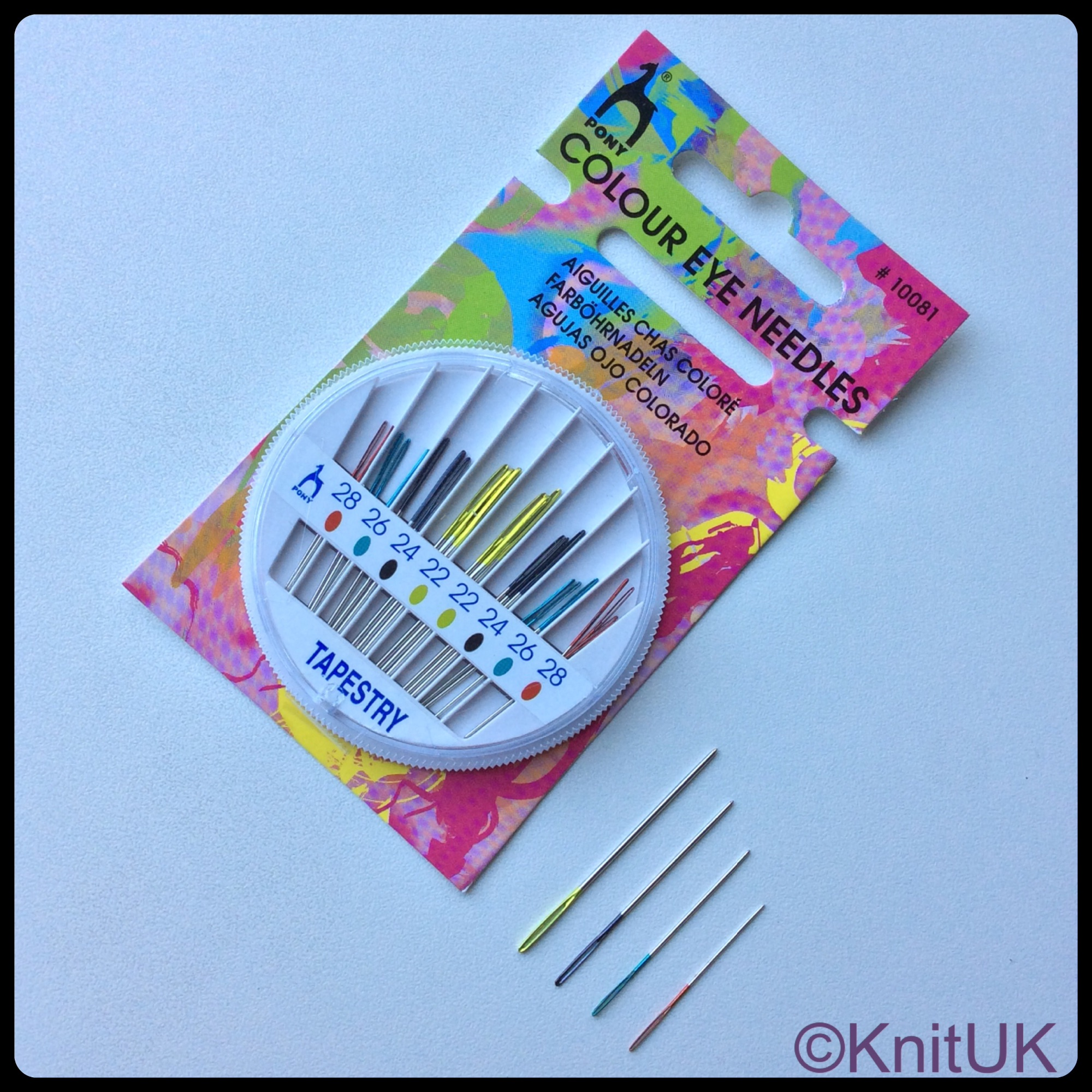 Pony colour coded eye tapestry needles compact