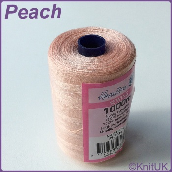 Hemline Sewing Thread 100% Polyester - 1000m. Peach