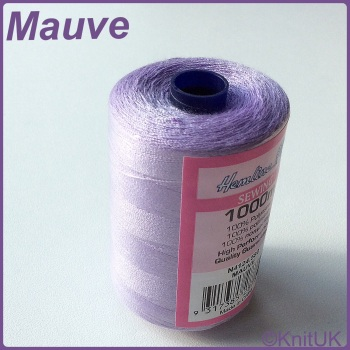 Hemline Sewing Thread 100% Polyester - 1000m. Mauve