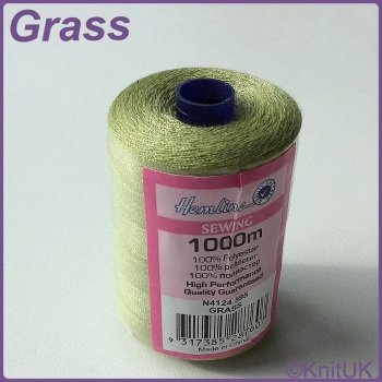 Hemline Sewing Thread 100% Polyester - 1000m. Grass