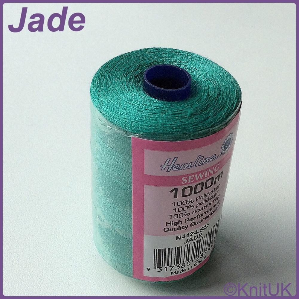 Hemline Sewing Thread 100% Polyester - 1000m. Jade