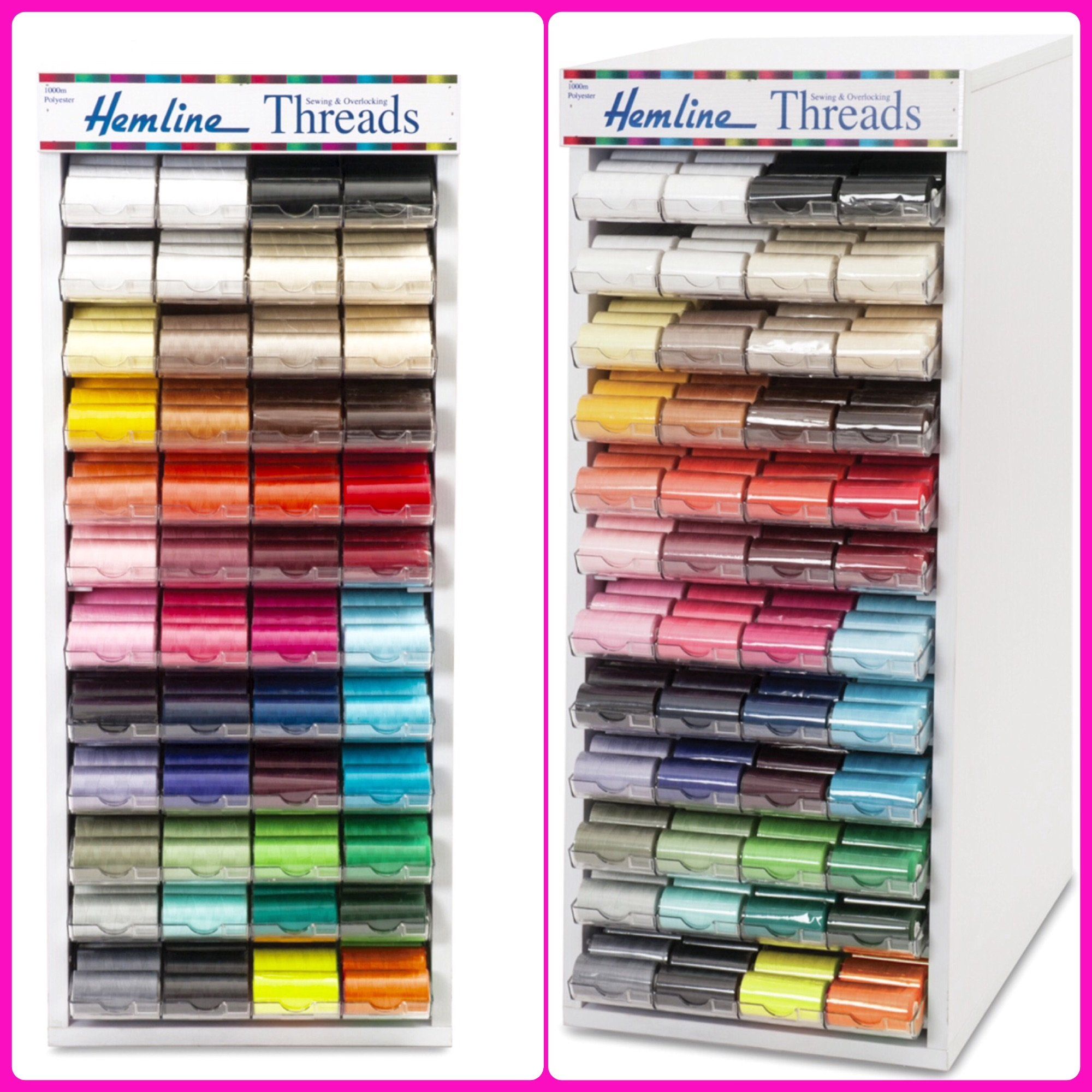 Hemline sewing threads