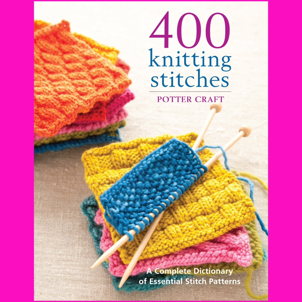 Potter Craft book 400 Knitting Stitches KnitUK
