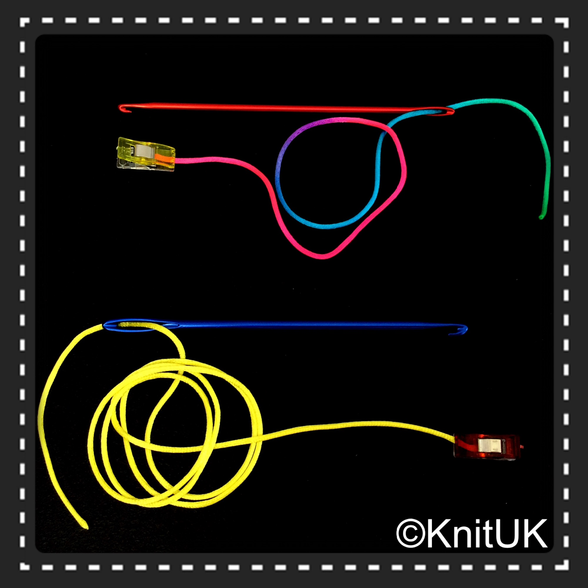 KnitUK Knook Set with cords and sewing clips