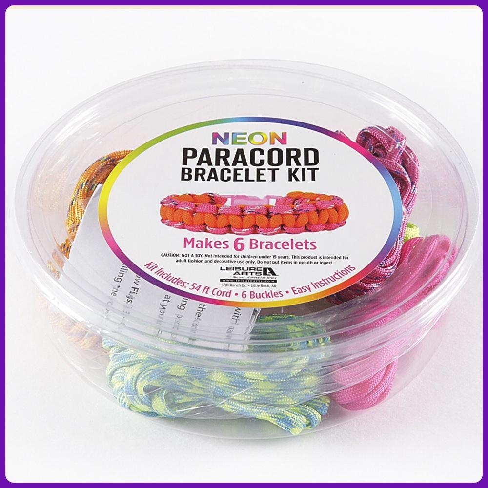 PARACORD - Neon Paracord Bracelet Kit PINK. Leisure Arts