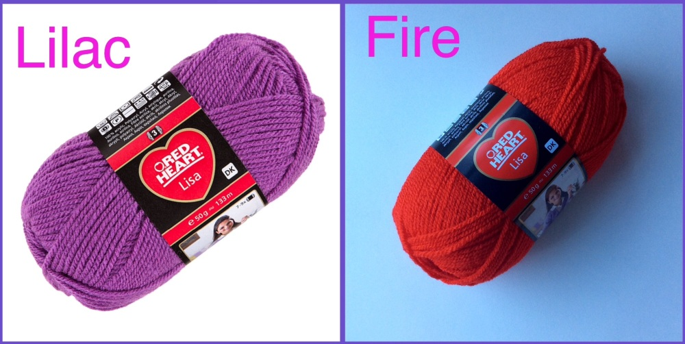 Red heart lisa dk lilac fire