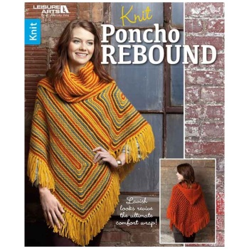Knit Poncho Rebound. Leisure Arts. 2016