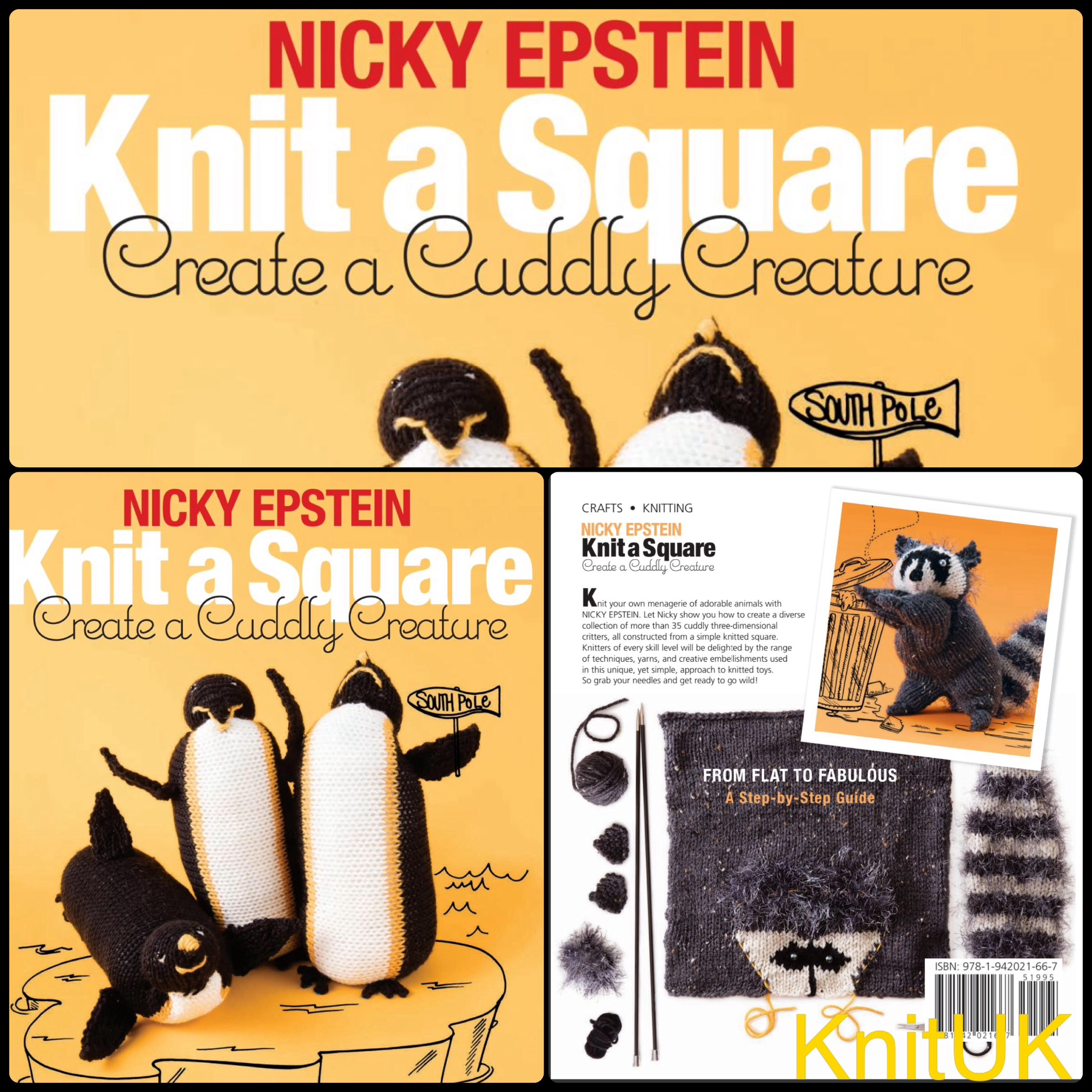 Nicky Epstein Knit A Square Create A Cuccly Creature Book Knituk