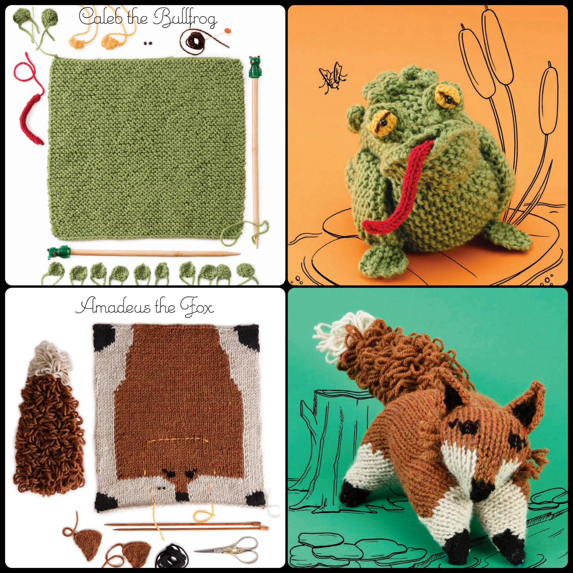 Knitting Animals Book : Nicky epstein knit a square create cuccly creature book