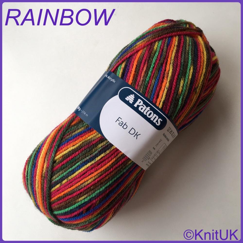 Patons fab dk rainbow colour yarn