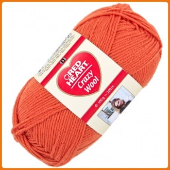 Red Heart Crazy Wool (100g). DK yarn for knitting & crochet. Choose colour