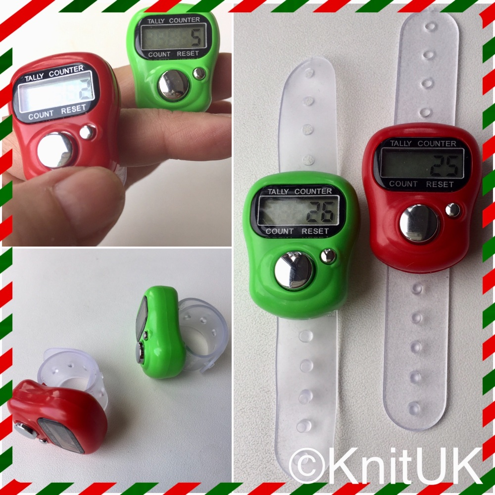 Knituk tally counter Christmas colours 3pics