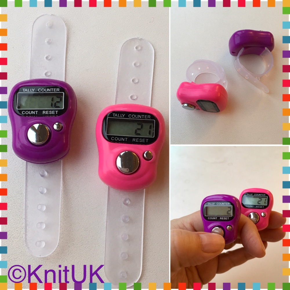 Knituk Pink purple tally counters 3 pic