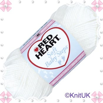Red Heart Soft Baby Steps (100g). Aran yarn for knitting and crochet.
