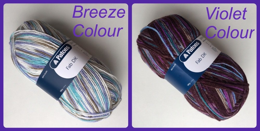 Patons fab dk yarn breeze violet colour