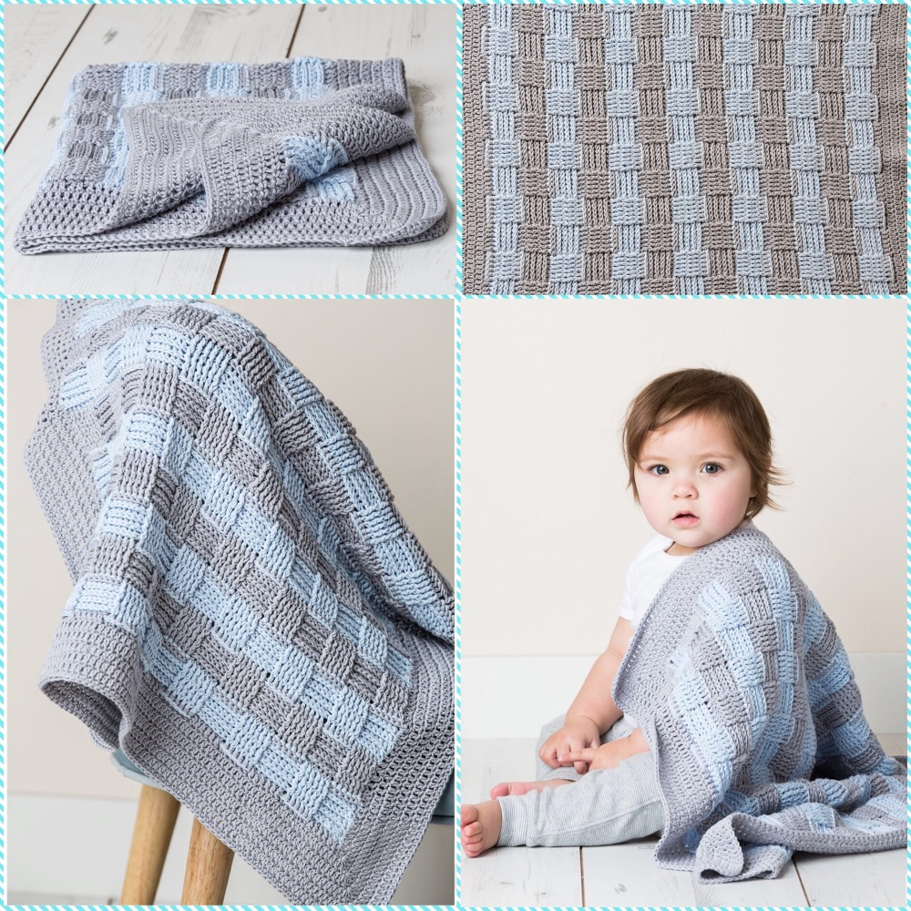 DMC natura just cotton crochet pattern baby blanket tiny tatty teddy me to