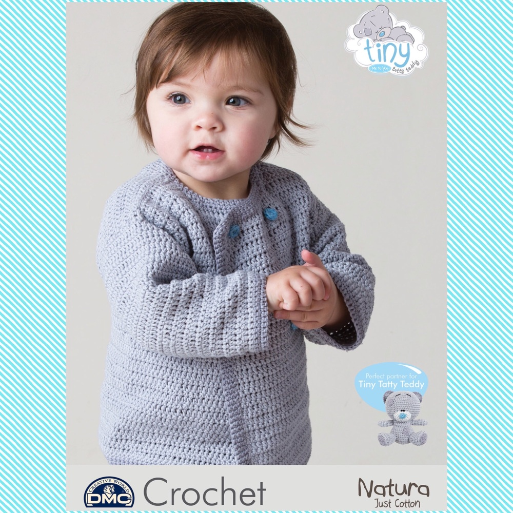 DMC Baby Cardigan - Crochet Pattern Leaflet (by Fran Morgan)