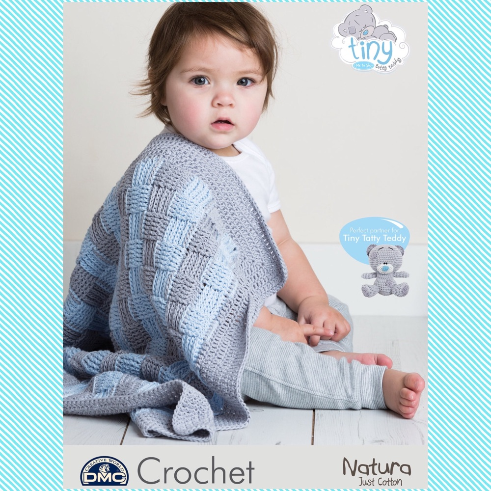 bf0f2eaa3 DMC crochet pattern Baby Blanket - tiny tatty teddy