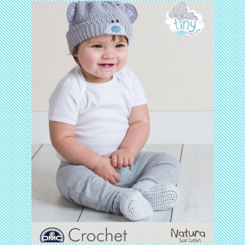 DMC Baby Beanie Hat and Booties - Crochet Pattern Leaflet (by Emma Potter)