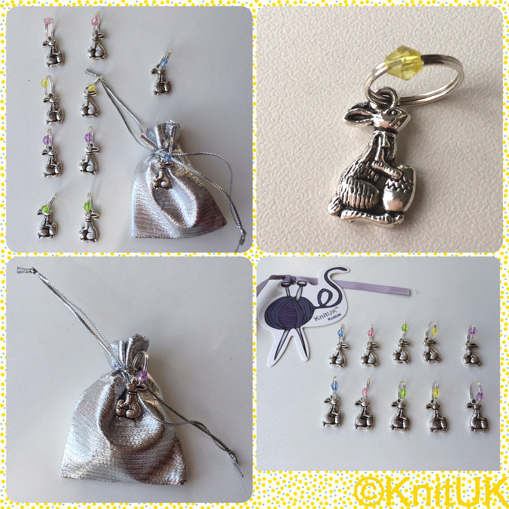 Knituk stitch markers easter bunny and egg