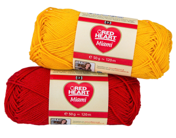 Red Heart Miami (50g). 100% Cotton yarn