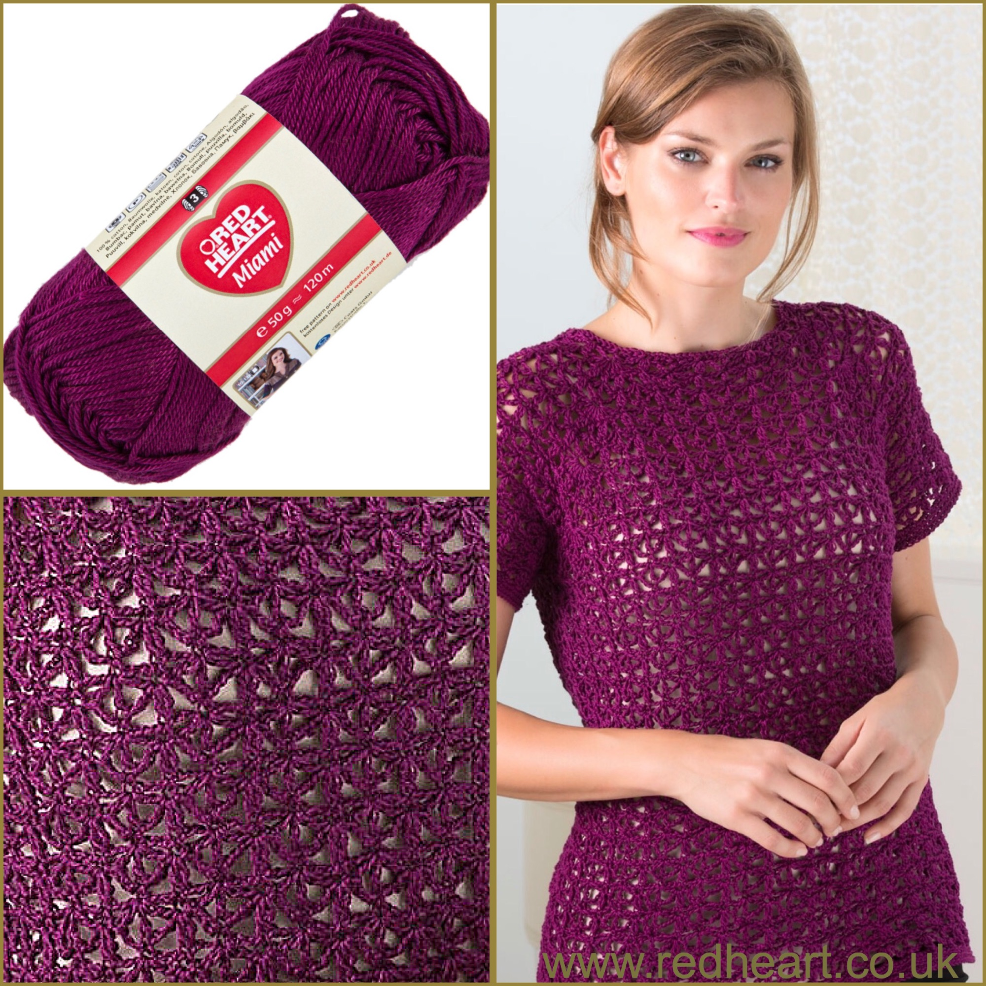 Red heart miami free crochet pattern delectable tee top