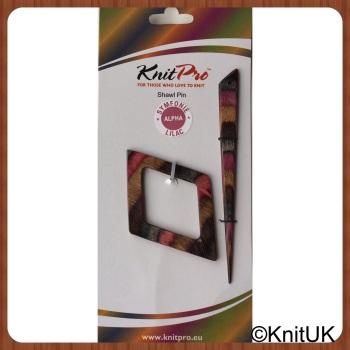KnitPro Symfonie Wood Lilac Shawl Pin / Stick: Alpha